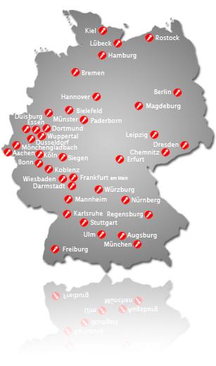 Junggesellenabschied Frankfurt karte
